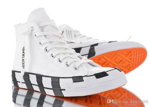 Yeni Geliş Çizgili Kapalı Chuck 70 Tüm Beyaz Kanvas Ayakkabı Taylor 1970'ler Star Erkekler Kadınlar Moda Tasarımcısı Sneakers Casual Kaykay Ayakkabı 36 -45