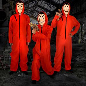 De Halloween COS Dali La Casa de Papel Cara del traje de Cosplay Máscara La Cámara de Papel de rol Partido adulto de Cosplay dinero Heist S-XXL
