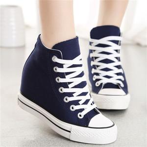 Günlük Ayakkabılar kadın chaussure femme arttırılması Sıcak Satış-Superstar WedgesWoman Platformu Topuk Yüksekliği
