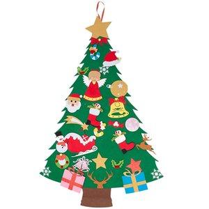 ELEG-albero di Natale in feltro 45,6 pollici 3D fai da te Set con 29 Pezzi di Ornament Decor Wall Hanging albero decorazioni regalo di Natale dei bambini