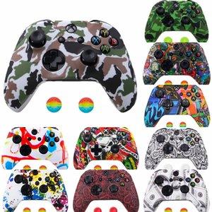 xDyoj Verschiffen Haltbare weiche schützende Haut Gummiabdeckung für Case Silicon Xbox One Slim Xbox One X-Controller