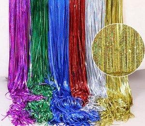 1M * 4M Rain Curtain Cerimônia de Casamento Marry fundo franjada Cortinas Christmas Birthday Decore Partido de Wall Suprimentos Pure Color
