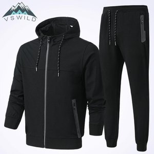 Men's Sports And Leisure Suit Cotton Stretch Outdoor Fitness Coat 2018 Summer News Men Clothing Pants Biggest Size