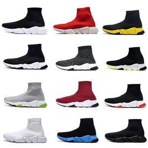 2020 Balenciaga Sock shoes Luxury Brand diseño ACE ocasional Zapatos Speed Trainer Negro Rojo Negro Triple los calcetines zapatos casuales zapatilla de deporte 36-45