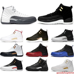 12 Men Air Shoes Basketball Shoes 12s Dark Grey Reverse Taxi Black Mens Trainer Sports Sneakers Size 40-47