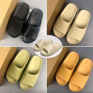 Bone Women Mens Luxury Designer Slipper Foam Runner Kanye West Slides Resin Desert Sand Beach Inertia flip flops sandals slippers pantoufle
