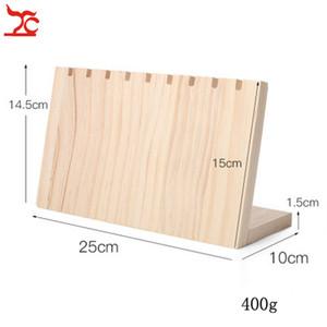 Fasion Gioielli solido bordo di legno Holder mostra dei monili Collana stand Organizzatore Rack 25x10x14.5cm