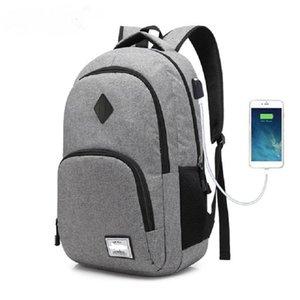 AUGUR Новые Мужчины Женщины Рюкзаки USB Зарядка Мужской Случайные Путешествия Подросток Студент обратно в Школьные сумки Ноутбук Рюкзак рюкзак