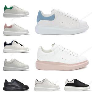 Alexander McQueen design di lusso della piattaforma donne degli uomini di pelle bianca pelle scamosciata scarpe casual modo nero bianco Mens des chaussures zapato eur 36-44