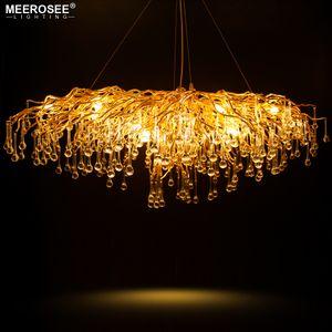 Роскошный Хрустальный подвесной светильник современный популярный золотой цвет G9 Crystal Rectangl люстра свет для ресторана гостиничного проекта фойе прихожая