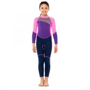 Çocuklar Dalgıç Açık Tek parça Uzun Kollu Sıcak Dalış Çocuk Sörf Su Sporları Şnorkel Aksesuarları Suit Baskı Hisea