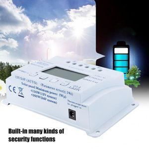 Солнечная батарея 12V Интеллектуальный солнечный контроллер заряда MPPT солнечной зарядки регулятор с ЖК-дисплеем