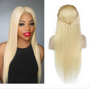 Platinum Blonde Human Hair Wigs Brazilian Glueless Lace Front Wigs 613# Honey Blonde Full Lace Human Hair Wigs For Black Women