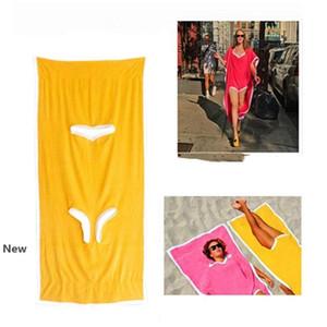 Towelkini Beach Cambio de toallas de baño Albornoz Poncho de secado rápido al aire libre Deportes traje de baño de natación para adultos Toalla 180 * 75cm 100pcs CCA11796