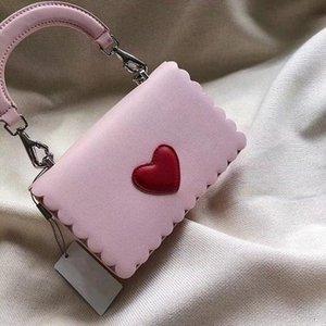 Top amore del cuore di qualità del modello famoso della borsa di marca ragazze Desinger borsa di modo Top manici in pelle borsa in vitello frizione della borsa