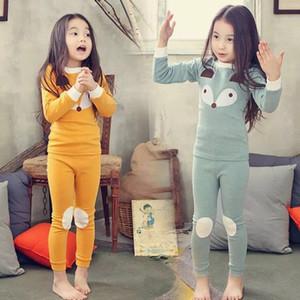 2018 Bambini Autunno pigiama che coprono le ragazze dei ragazzi del fumetto degli indumenti da notte del vestito Imposta di Natale Pigiama bambini enfant bambino ClothesMX190919
