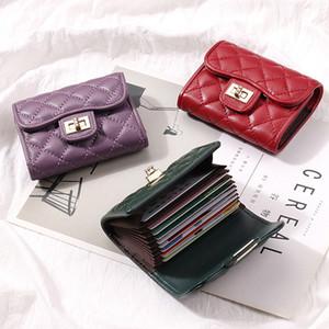 Yeni Kuzu derisi deri Kart Sahibi Kadınlar Kredi Kimlik Pasaport Kartvizit Çantalar Moda tasarımcısı Çanta Kısa Cüzdan