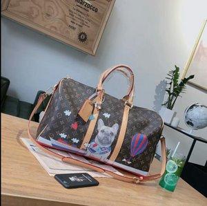 2020 Designer de luxo Duffel Bag Mens Designer de grande capacidade bolsa com alça Fashion Designer Outdoor saco de viagem zx B104902W