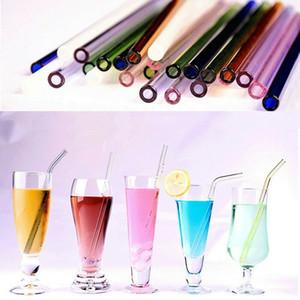 6 millimetri 8mm 10mm 12 millimetri 14 millimetri 15 millimetri Alcol riutilizzabile di vetro paglia spazzola di pulizia da sposa festa di compleanno Drink Cannucce Dribking pipetta di vetro