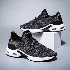 Men's shoes spring new Korean version of flying weave air permeable sleeve casual shoes men's trend air cushion running men's sports shoes