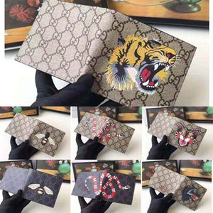 Luxury wallet mens animal Short Wallet Leather black snake Tiger bee Wallets Women Long Style Purse card Holders designer wallet