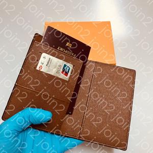 M60181 جواز سفر تغطية مصمم إمرأة رجل الجوازات حماية بطاقة حامل حقيبة جيب منظم متعددة برازا محفظة COUVERTURE PASSEPORT
