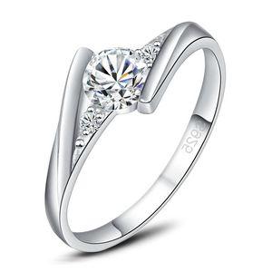 925 pure silver fashion jewelry wholesale classic female wedding diamond Band Rings