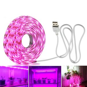 전체 스펙트럼은 성장 온실 수경 공장 조명 USB LED 스트립 조명 0.5m의 1m 2m 2835 개 칩 LED 식물 램프를 성장 주도