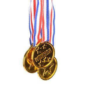 Die Gewinner Medaillen Affordable Plastic Kinder Gold-Kinder-Spiel Sport-Preis Auszeichnungen Waren Party Favor