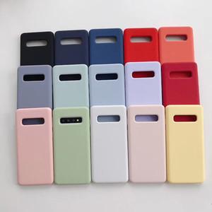 Hot Case d'origine pour Samsung Galaxy S8 S9 S10 Plus S10e cas Silicone liquide douce peau de bébé sentiment pour Samsung S10 Couverture de téléphone Coque