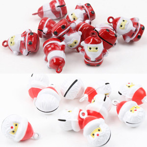 5pcs Jingle Bells Christmas Old Man Ornament Metal Bell for Home Party Tree Pendant Decoration 27mm MZ379