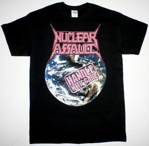 PUNHO NUCLEAR ASSAULT COM CUIDADO TRASH METAL S.O.D. PRETO NOVO CAMISETA
