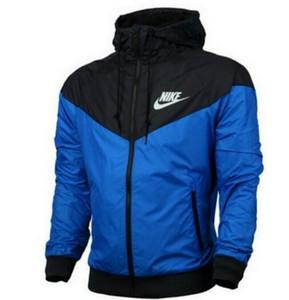 Envío gratis Otoño delgado windrunner Hombres Mujeres ropa deportiva tejido impermeable de alta calidad Hombres chaqueta deportiva Moda con capucha con cremallera más el tamaño 3XL