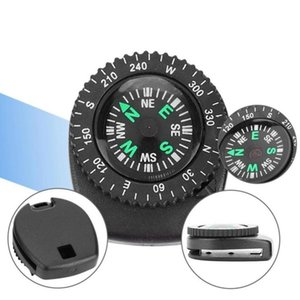 Mini Watch Band Button Compass For Paracord Bracelet Survival Pocket Outdoor Camping Mini Hiking Compass Accessories F3L3