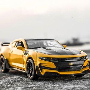 1: 32 Chevrolet Camaro сплав литья под давлением модели автомобилей KIDAMI Pull Back коллекция игрушечных автомобилей для детей, hot wheels подарок на день рождения