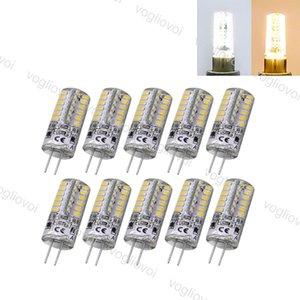 LED لمبات SMD2835 G4 5W 48LED DC12V الدافئة الأبيض الباردة الأبيض الذرة المصباح سيليكون مصابيح الكريستال الثريا ضوء المنزل eub