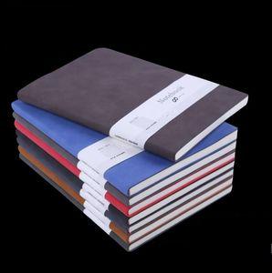 A5 클래식 노트북 부드러운 가죽 커버 일기 비즈니스 메모장 100 시트 노트 학교 사무실 노트북 도매 디자인 notepads