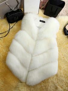 Womens Fashion Designer Faux Fur autunno inverno senza maniche Solid colore Warm donne cappotti casuale abbigliamento moda stile femminile Abbigliamento