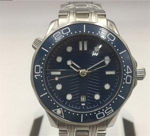 Newest Luxury Mens Professional 300m James Bond 007 Blue Dial Sapphire Automatic Watch Men's Watches