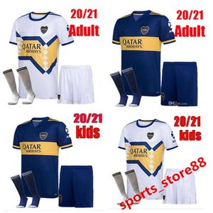 20 21 Boca Juniors Adult and Kids kit Soccer Jersey 2020 2021 #5 Gago #10 TEVEZ #9 Benedetto #7 Pavon #16 DE ROSSI Football Shirt size S-XXL