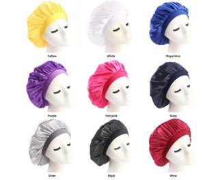 Novas Mulheres Muçulmanas Estiramento Sono Turbante Chapéu Lenço De Seda Gorro Chemo Gorros Caps Câncer Headwear Enrole a Perda de Cabelo Acessórios