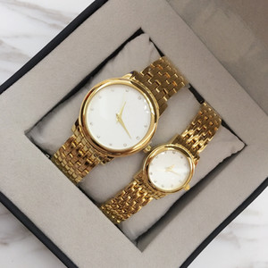 Wholesale watch coupling free resale online - 2017 Couple Men Watch Women Watches gold silver Top Brand Quartz movement Diamond Dial Wristwatches Best Gift