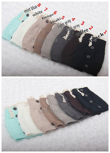 Wholesale Fashion New Womens Crochet Lace Trim Twist Button Down Braid Leg Knit Warmers Boot Socks Knee High Colors S266