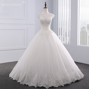 2020 Luxury Wedding Dresses Bling Lace Floor Long Crystal Diamond Wedding Gowns Lace-up Custom Made Line Lace Halter Wedding Dress