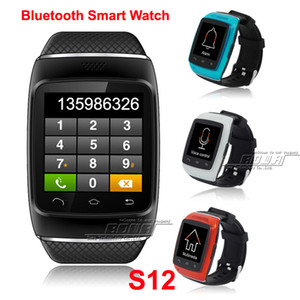 Wholesale 2014 New Bluetooth Android Smart Watch inch Men Wristwatches ZGPAX S12 For Smart Phone Dial Sync SMS call On Sale Color