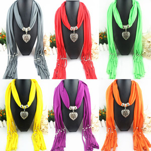 Wholesale Hot Sale Scarf Jewelry with Beads Pendant Scarves Colorful Fashion Charms Necklace Peacock Mix Color top quality E83L