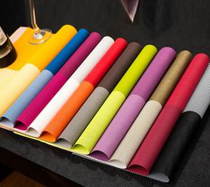 Placemat Table Mat Dining Mat Textilene PVC Insulation Anti Slip Pad Antibacterial Flame Retardant 30*45cm Reusable