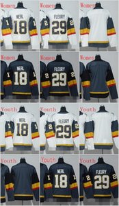 Women Youth 2017 2018 New Brand 18 James Neal #29 Marc-Andre Fleury Blank Grey White Hockey Jerseys Kids Stitched Mix Order on Sale