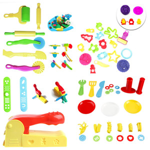 1Set Kids Plastic Mixed Plasticine Clay Dough Cutters Moulds Childrens Modelling Tool