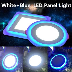 Led Downlight 6W 9W 16W 3 Modes Lighting LED Panel Light Round Square Acrylic Blue Cool Warm White LED Recessed Light Ceiling Lamp AC85-265V
